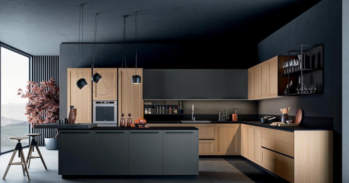 Les tendances déco 2021 en cuisine - configuration avec îlot central⎮ Armony Cuisine La Garenne-Colombes